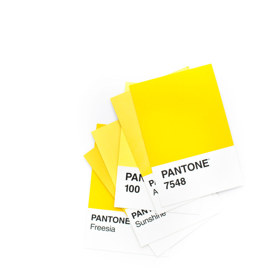 Pantone Yellow color swatch